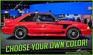 Ford Mustang Saleen C Stripes Vinyl Decal 1979 1993