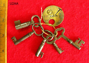 Skeleton Keys Lot Set Old Antique Factory Keys W Brass Tag More Keys Here