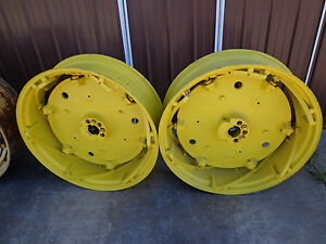 John Deere 730 720 630 620 530 520 Spin out Castings And Rims set 3