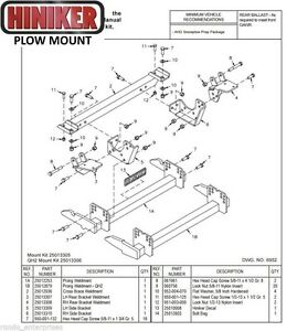 Hiniker Snowplow Mount Dodge Ram 08 Newer 4500 5500 Quick Hitch1 25013305