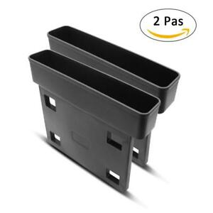 2pcs Auto Catch Catcher Box Caddy In Car Seat Gap Slit Pocket Storage Organizer