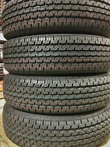 4 New Premium Cargo Master St205 75r14 D 8 Ply Steel Belted Radial Trailer Tire