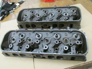 1969 Big Block Chevy Bbc 396 427 Oval Port Heads 3931063 063 C 31 9 D 1 9