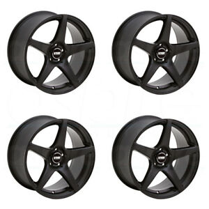18x9 5 Vmr V705 5x112 45 Matte Black Wheels Rims Set 4