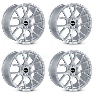 18x10 Vmr V810 5x112 25 Hyper Silver Wheels Rims Set 4