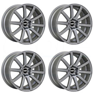 18x9 5 Vmr V702 5x112 22 Gunmetal Wheels Rims Set 4