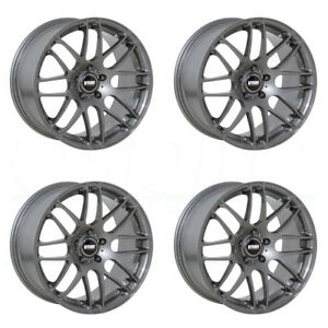 18x9 5 Vmr V710 5x112 22 Gunmetal Wheels Rims Set 4