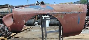 1974 Mgb Left Front Fender cut At Windshield Post Solid Piece To Work With Mv
