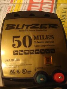 Blitzer Low Impedince 50 Mile 2 Juole Output A c Plug In Electric Fencer New