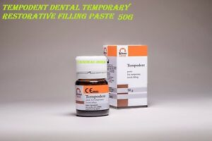 6 X Tempodent Dental Temporary Restorative Filling Paste Tooth Seal Cavity 50g