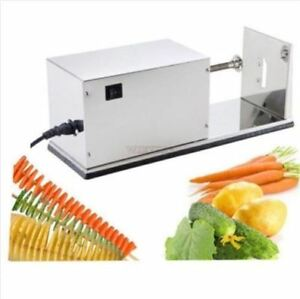 Potato Spiral Stainless Steel Electronical Twist Potato Cutting Machine