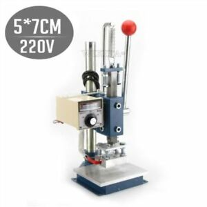 Leather Printing Stamping Machine Manual Marking New Embossing Printer Hot Foil