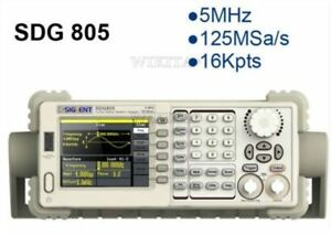 New Siglent 5mhz Sdg805 Dds Function Signal Arbitrary Waveform Generator
