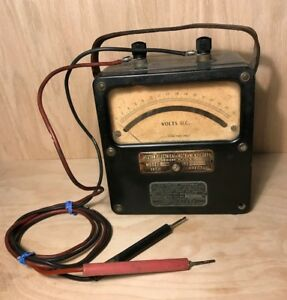 1940 s Ww2 Weston Electrical Instrument Army Airforce Portable Voltmeter Working