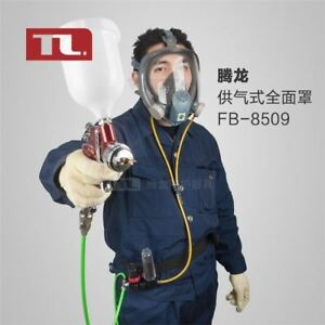 For Paint Spray 3 Stage Filter Breathing Mask Hood Respirator Kit Air Fed