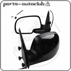 Side View Mirrors Power Heated Black Lh Rh Pair Set For Chevy Gmc
