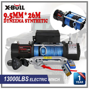 X Bull 12v 13000lb 5497kg Electric Jeep Winches Tow Truck Synthetic Rope 12000lb
