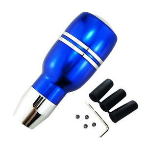 Cool Blue Aluminum Universal Car Automatic Gear Stick Shift Knob Shifter Lever