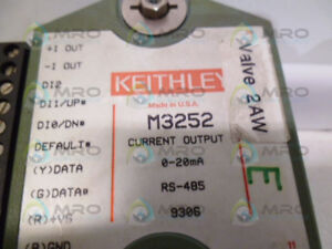 Keithley M3252 Current Output Module used
