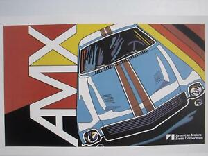 American Motors Peter Max Amc Amx Dealership Poster Man Cave Free Shipping
