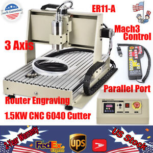 3 Axis 6040 Cnc Router 1500w Engraving Machine Mill 3d Mach3 Remote Controller