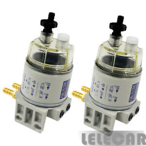 2 Packs Diesel Fuel Filter Water Separator For R12t Marine Spin on Housing 120at