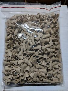 1000 Pc Lot P12 Tan Winged Wing Wire Connectors Twist on Nut Ul Approved
