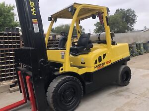2014 Hyster H120ft 12000lb Pneumatic Forklift Propane Powered Lift Truck