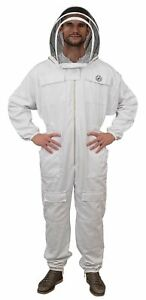 Humble Bee 411 M Polycotton Beekeeping Suit With Fencing Veil Medium