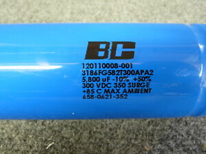 New Bc 5800uf 300v Large Can Electrolytic Capacitor