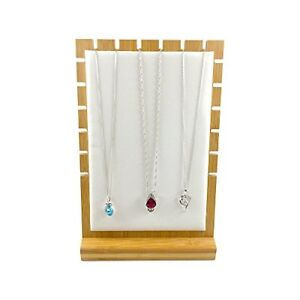 Wood Bamboo Jewelry Stand Holder Necklace Fashion Fine Exhibition Display Block