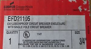 Cooper Crouse Hinds Efd21105 Circuit Breaker Enclosure Protector New