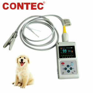 Us Stock Veterinary Pulse Oximeter Spo2 Pr Vet Patient Monitor Tongue ear Probe