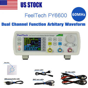 New Digital Fy6600 60mhz Dual channel Dds Function Waveform Signal Generator Us