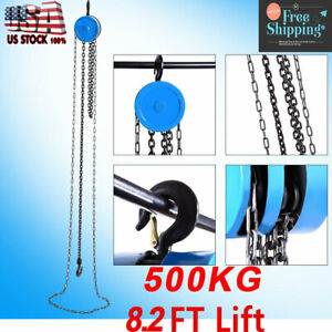 1 Ton Lift Manual Chain Block Chain Hoist Cable Hand Control Pulley Crane Us