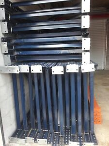 Used Teardrop Pallet Rack 16 X 42 Upright Frame