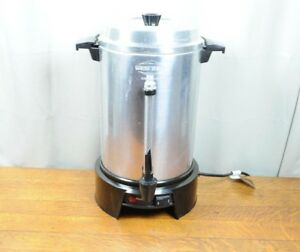 West Bend Aluminum 55 Cup Commercial Coffee Percolator Urn 1500 Watts