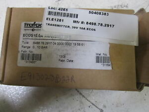 Trafag Ecos10 0a Transmitter 0 10 Bar 9 30vdc as Pictured new In Box