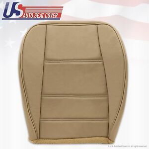 1999 To 2004 Ford Mustang V6 Driver Bottom Replacement Leather Seat Cover Tan