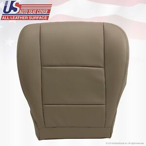 Fits 2001 2004 Toyota Tundra Sequoia Passenger Bottom Leather Seat Cover Tan