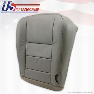 2002 To 2007 Ford F 250 F350 Super Duty Lariat Bottom Leather Seat Cover Gray