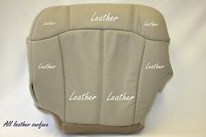 2002 Chevy Tahoe Lt Z71 Driver Bottom Replacement Leather Seat Cover Tan