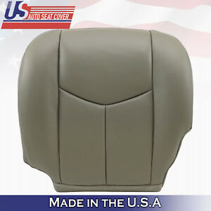 2007 Chevy Silverado Classic Driver Bottom Leather Seat Cover Pewter Gray