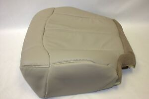Chevy Tahoe Suburban Driver Bottom Seat Cover light Tan522 1999 2000 2001 2002