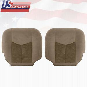 2003 2004 Chevy Tahoe suburban 1500 Driver passenger Bottom Cloth Seat Cover Tan