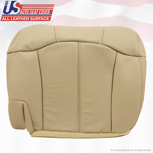 1999 Chevy Tahoe Suburban Second Row Passenger Bottom Leather Seat Cover Tan