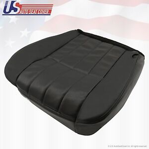 2006 F250 Harley Davidson Passenger Bottom Perforated Leather Seat Cover Black