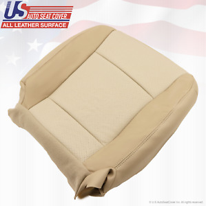 2007 Mercury Mountaineer Driver Bottom Replacement Leather Seat Cover 2 tone Tan