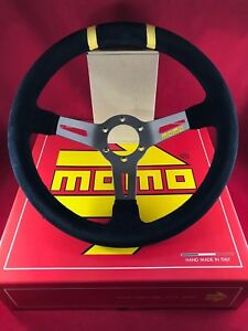 Momo Mod Drift 330mm Black Suede Black Stitch Deep Dish Steering Wheel R1907 33s