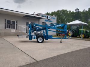 2013 Genie Tz34 20 Trailer mounted Boom Lift Tow able Low 116 5 Hours